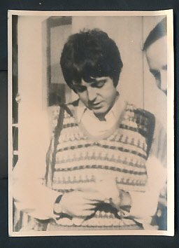 Paul McCartney Original Photo Signing for a fan s