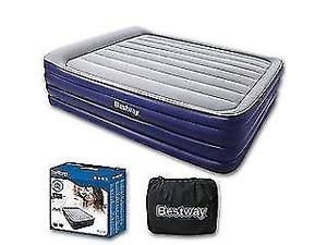 RAISED TESCO DOUBLE AIRBED WITH AN INBUILT PUMP *TESCO PRICE £50 * USED TWICE - clacton co15 6aj