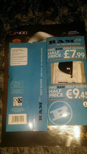 Ram twin pack golf gloves