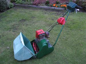 "Restored and Serviced Qualcast/Suffolk 14"" Petrol Lawnmower"
