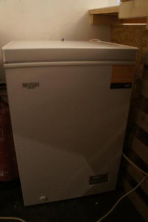Stainless steel fridge and chest freezer