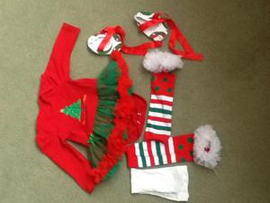 Xmas fancy dress for baby girl 6/9 months