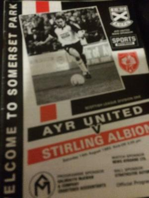 Ayr United v Stirling Albion programme