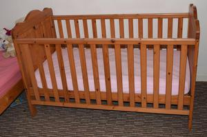 Baby & Toddler cot bed + Matress