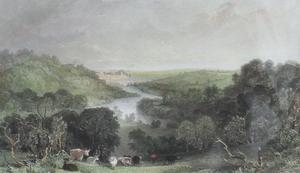 Barnard Castle Co Durham. Steel Engraving