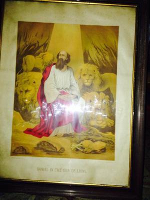 Beautiful print of Daniel in The Den of Lions