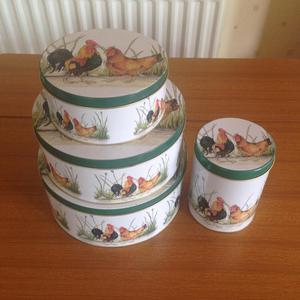 Chicken cake / biscuit tin set