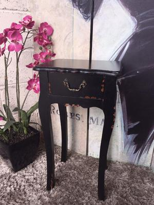 Distressed Lamp Table Wooden Side Table Bedside Cabinet