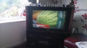 Flat screen tv with freeview box