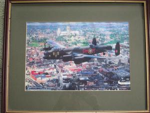 Framed Print - City of Lincoln - Lancaster Bomber