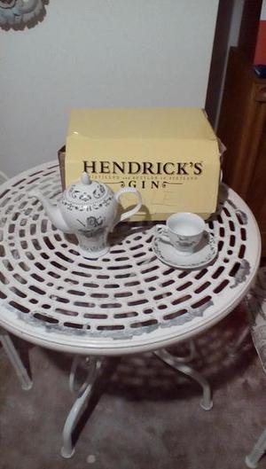 Hendricks Gin Tea Set, teapot and 6 cups and saucers