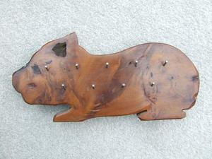 KEY RACK...IN ENGLISH YEW...IN.SHAPE OF A DOG