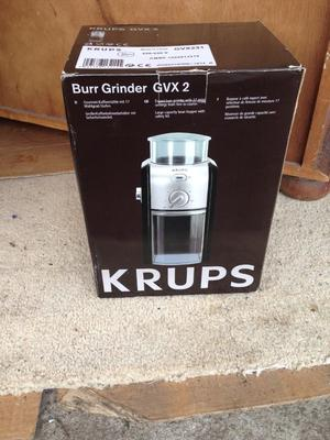 KRUPPS Coffee Grinder Machine,brand new and sill in the box
