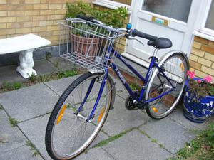LADIES TREK HYBRID 700c WHEEL BIKE WITH FITTED BASKET in great condition