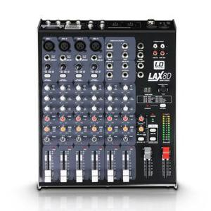 Ld. 8 channel mixer and 600w amp and sprarker