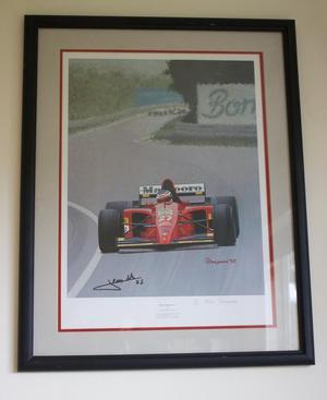Limited Edition Motor Racing Framed Print - Jean Alesi