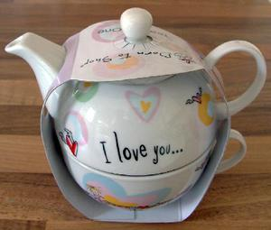 "New - ""I Love You This Much"" Tea for one Tea Pot. BX5"