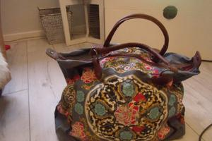 New..Multi Coloured Fabric Holdall