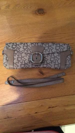 Olive green DKNY clutch/shoulder bag