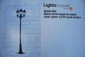 Outdoor Post Lantern lighting