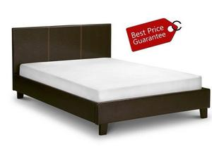 **POCKET SPRUNG SET** BRAND NEW DOUBLE LEATHER BED WITH  POCKET SPRUNG MATTRESS IN BLACK
