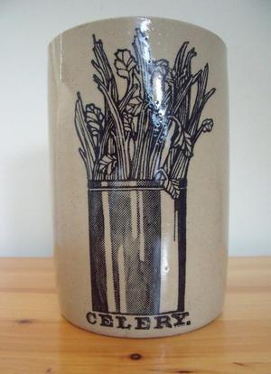 Pearsons's earthenware celery pot.