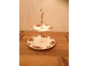ROYAL ALBERT COUNTRY ROSE 2 TIER CAKE STAND in Newry
