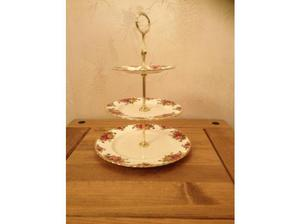 ROYAL ALBERT COUNTRY ROSE 3 TIER CAKE STAND in Newry