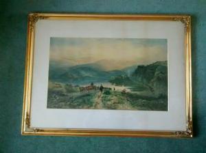 Samuel Bough Print of Highland Cattle