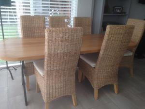 Set of 6 Rope Highback dining room chairs