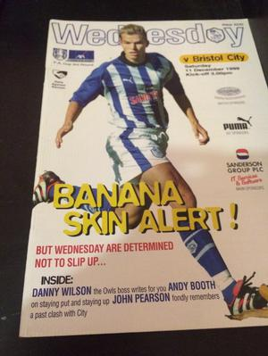 Sheffield Wednesday v Bristol City programme