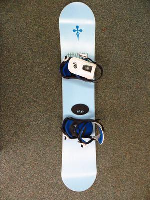 Snowboard with bindings - womens girls ladies 135 cm 135cm