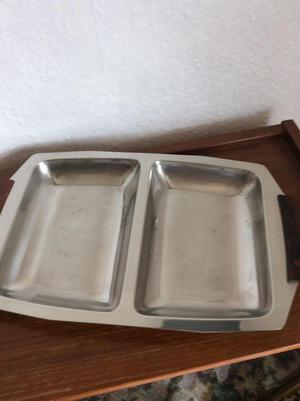 Stainless steel snack tray