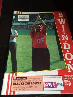 Swindon v Blackburn Rovers programme