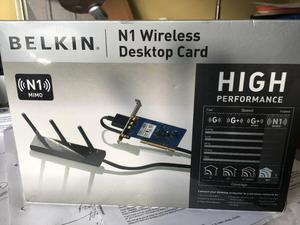Belkin N1 Wireless Desktop Card Brand New