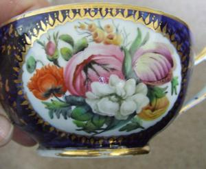 COALPORT HAND PAINTED LARGE CUP C