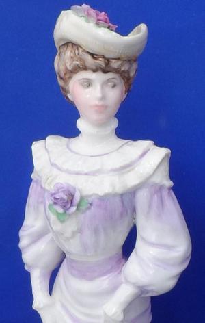 Coalport Golden Age Louisa At Ascot Ltd Ed. Figurine