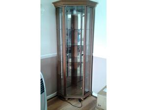 Corner Glass Display Cabinet Good Condition in Sittingbourne