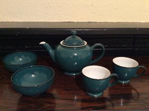 Denby Tea for Two set, Greenwich green
