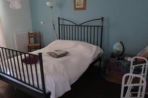 IKEA DOUBLE BED AND MATTRESS for sale -HARDLY USED