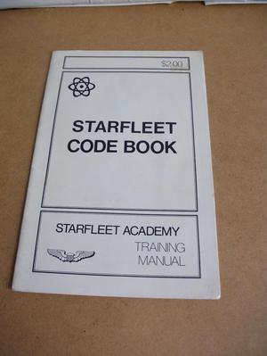STARFLEET CODE BOOK. STARFLEET ACADEMY TRAINING MANUAL.