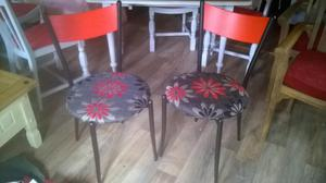 Set of four vintage dining chairs