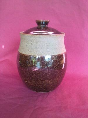 Studio pottery coffee jar