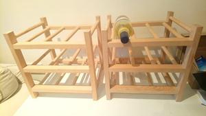 Two wooden wine racks