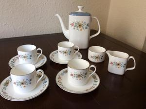 Vintage Royal Doulton Pastoral coffee set - mint condition