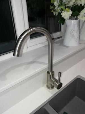 kitchen taps - BNIB Brushed Stainless Steel Mixer Tap