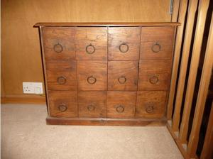 12 Drawer cabinet with wrought iron handles in Southampton