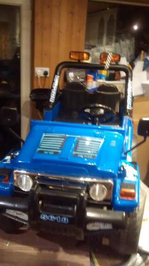12 volt twin speed two seater Raptor jeep