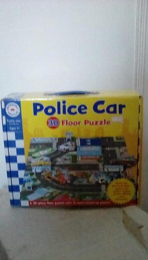 3D floor puzzle/jigsaw police scene