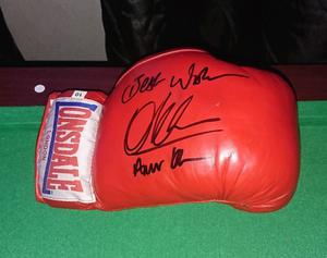 Amir Khan hand signed Boxing glove with Coa